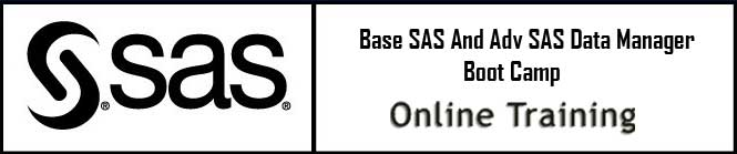 Base SAS and Adv SAS Data Manager Boot Camp Online Training